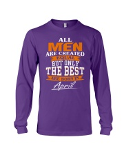 ONLY THE BEST ARE BORN IN APRIL Long Sleeve Tee front