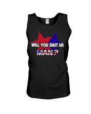 Will You Sh-t Up Man Unisex Tank tile