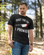 Just The Tip I Promise Classic T-Shirt apparel-classic-tshirt-lifestyle-front-49