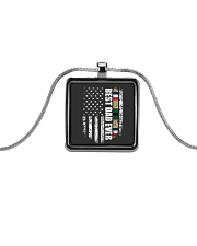 Best Dad Ever Desert Storm Veteran Metallic Rectangle Necklace tile