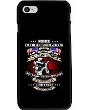 God Bless America Desert Storm Veteran Phone Case thumbnail
