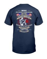 God Bless America Desert Storm Veteran Classic T-Shirt back