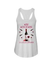 Wine with dewine Ladies Flowy Tank thumbnail