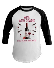 Wine with dewine Baseball Tee thumbnail