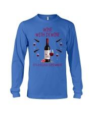 Wine with dewine Long Sleeve Tee thumbnail