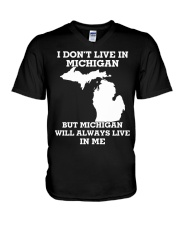 I don't live in Michigan but Michigan will always  V-Neck T-Shirt tile