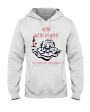 Wine with dewine Hooded Sweatshirt thumbnail