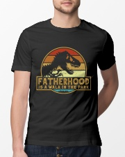 Fatherhood is a walk in the park Classic T-Shirt lifestyle-mens-crewneck-front-13