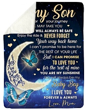 """To my Son Wherever your journey in life may takyou Large Sherpa Fleece Blanket - 60"""" x 80"""" thumbnail"""