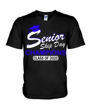 SENIOR skip day cham Blue V-Neck T-Shirt thumbnail