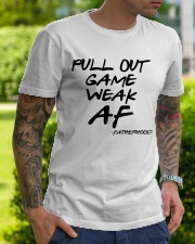 Pull out game weak af - Fatherhood Classic T-Shirt lifestyle-mens-crewneck-front-7
