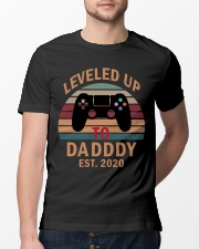 Leveled up to Daddy est 2020 Classic T-Shirt lifestyle-mens-crewneck-front-13