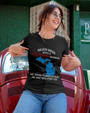 Never Mess With a Michigan Woman Ladies T-Shirt apparel-ladies-t-shirt-lifestyle-01
