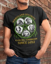 Homeland Security Fighting Terrorism Since 1492 Classic T-Shirt apparel-classic-tshirt-lifestyle-26