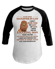 To DIL Thanks For Not Selling My Son To The Circus Baseball Tee thumbnail