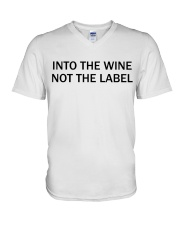 Into the wine not the label V-Neck T-Shirt tile