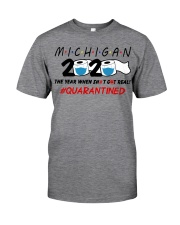 Michigan 2020 Quarantined Classic T-Shirt front