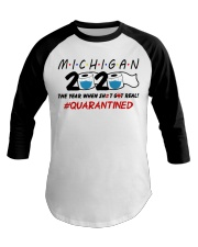 Michigan 2020 Quarantined Baseball Tee thumbnail