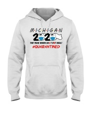 Michigan 2020 Quarantined Hooded Sweatshirt thumbnail