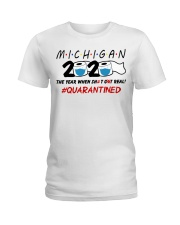 Michigan 2020 Quarantined Ladies T-Shirt thumbnail