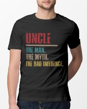 UncleThe man The Myth The Bad Influence 1 DAY LEFT Classic T-Shirt lifestyle-mens-crewneck-front-13