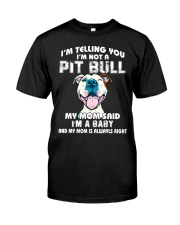 Pit bull mom Classic T-Shirt front