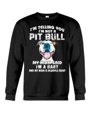 Pit bull mom Crewneck Sweatshirt thumbnail