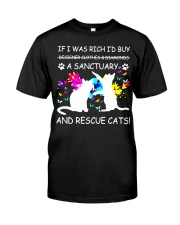 Shirt Cat If I was Rich Classic T-Shirt front