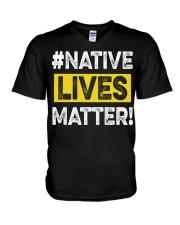 Native Lives Matter V-Neck T-Shirt thumbnail