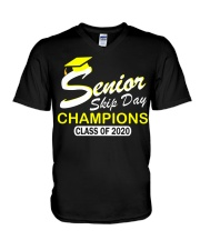 SENIOR skip day cham Yellow V-Neck T-Shirt thumbnail