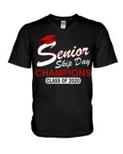 SENIOR skip day cham red V-Neck T-Shirt thumbnail