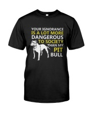Pit Bulls Lovers Classic T-Shirt front