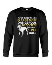 Pit Bulls Lovers Crewneck Sweatshirt tile