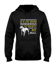 Pit Bulls Lovers Hooded Sweatshirt thumbnail