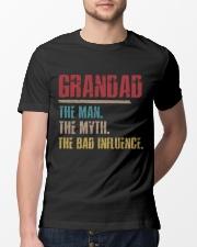 Grandad The Man The Myth The Bad Influence Classic T-Shirt lifestyle-mens-crewneck-front-13