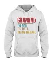 Grandad The Man The Myth The Bad Influence Hooded Sweatshirt thumbnail