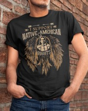 I suport Native American Rights Classic T-Shirt apparel-classic-tshirt-lifestyle-26
