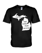 That woman from michigan V-Neck T-Shirt thumbnail