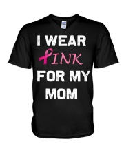 I WEAR PINK FOR MY MOM V-Neck T-Shirt thumbnail