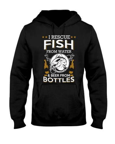 Fish From Water And Beer From Bottles