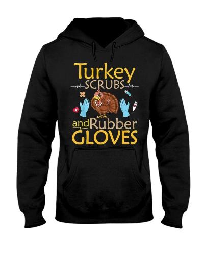 Nurse Turkey Scrubs Rubber Gloves Nurse