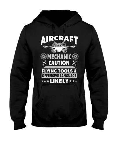 Mechanic Aircraft Mechanic Caution Flying Tools