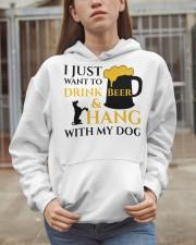 Beer And My Dog Hooded Sweatshirt apparel-hooded-sweatshirt-lifestyle-07