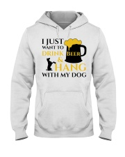 Beer And My Dog Hooded Sweatshirt front