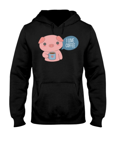 Pig I Love Coffee