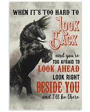 Horse You Are Too Afraid To Look Ahead 24x36 Poster front