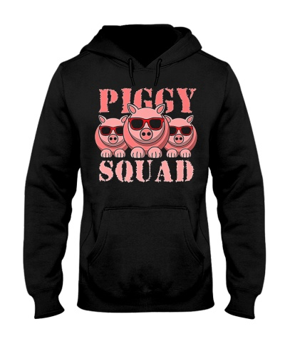 Pig Piggy Squad Pigs With Sunglasses