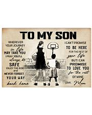 Basketball - To my son - Poster 17x11 Poster front