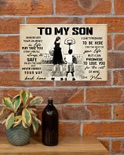 Basketball - To my son - Poster 17x11 Poster poster-landscape-17x11-lifestyle-23