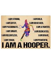 Basketball - i am a hooper poster 17x11 Poster front